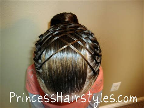 hairstyles for a gymnastics competition woven french braid ponytail hairstyles for girls