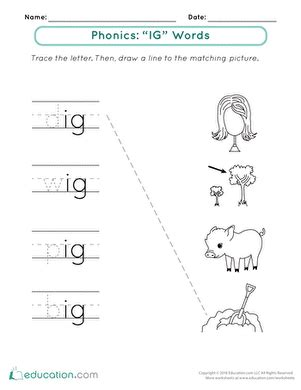 Word Family Worksheets Kindergarten by Welcome To Word Families Ig Words Worksheet