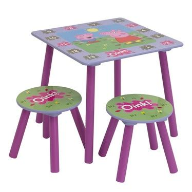 peppa pig chair tesco peppa pig table and 2 stools a peek into the classroom