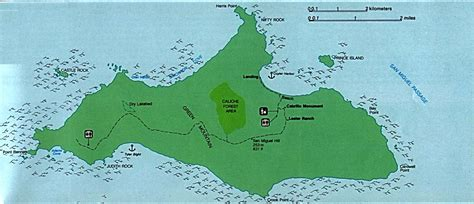 maps of san miguel island map channel islands national