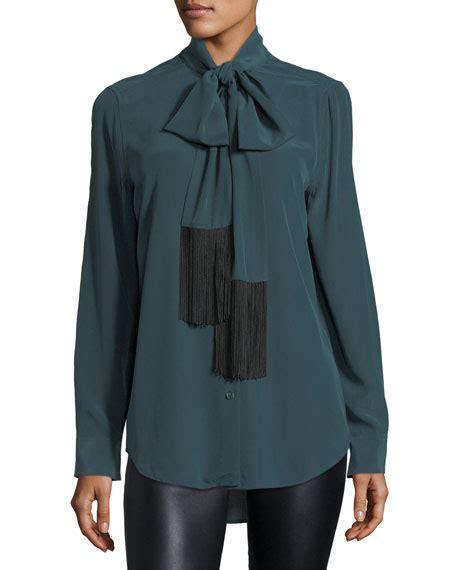 Essential Tie Neck Blouse equipment essential tie neck silk blouse