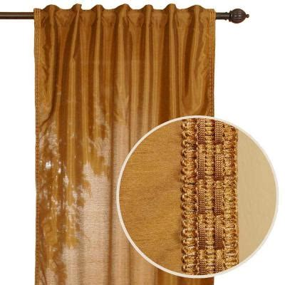 Earth Tone Curtains Home Decorators Collection Polysilk Earth Tone Back Tab Curtain 91007 The Home Depot