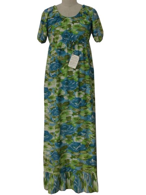 ugly green hippie style maxi dress
