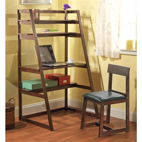 Ladder Desk by Ladder Desk And Chair Value Bundle Espresso Walmart