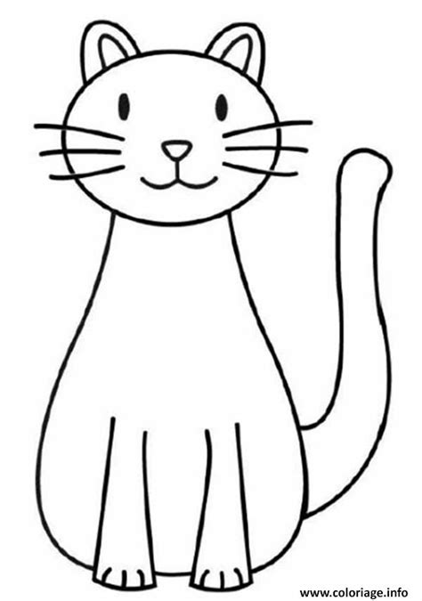 cat easy coloriage chat facile 142 dessin