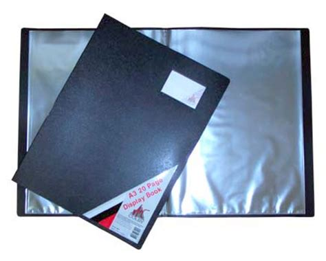 Bantex Trendy Display Book A4 20 Pockets Black 3133 10 statewideone