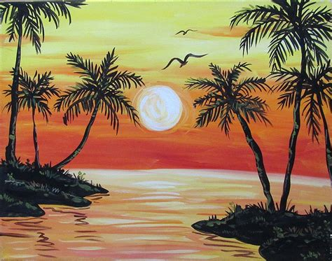paint nite island pour house paint nite sultry sunset