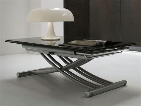 tavolo regolabile in altezza mix tavolo midj in metallo con piano in vetro
