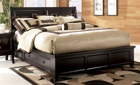 ashley king size bed martini suite king size platform storage bed from