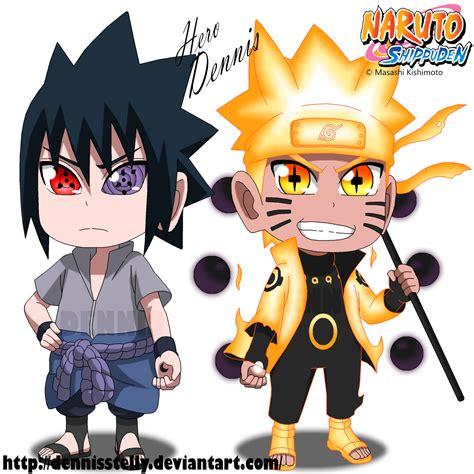 Jaket Anime Rikudou Mode chibi and sasuke rikudou mode by dennisstelly on