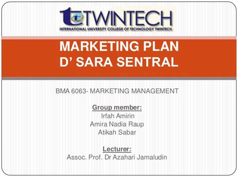 Of Alabama Mba Review by Marketing Plan For D Sentral Mba Student Review