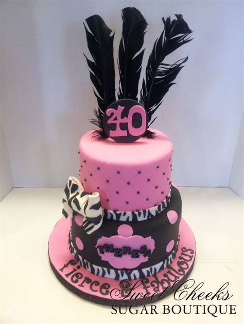 Fierce Fabulous And Forty Decorations by A Fierce Fabulous And Forty Themed Birthday Cake For