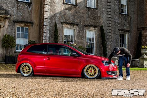volkswagen polo white modified stanced vw polo fast car