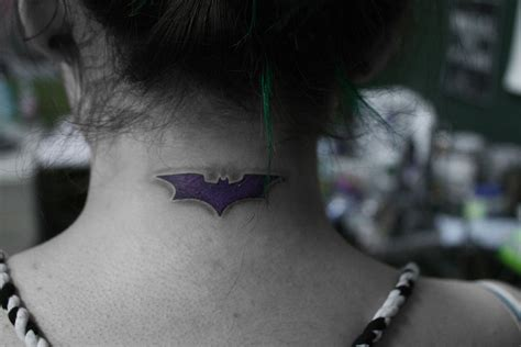 small batman tattoo conspiracyinc small batman tattoos neck