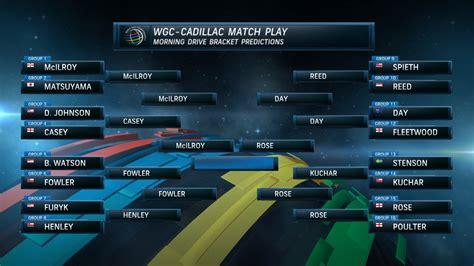wgc cadillac tv schedule bracket predictions for wgc cadillac match play golf channel