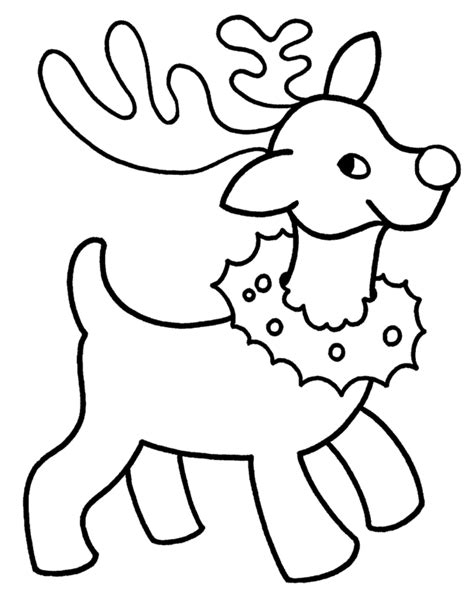 small printable reindeer reindeer drawing clipart best