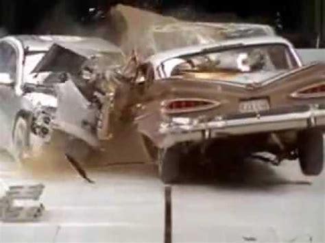 Carro Antiguo Versus Carro Moderno Choque Frontal De Chevy Bel Air 1959 Vs Chevy Malibu Crash Test
