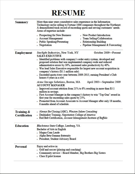 successful resume resume format pdf resume