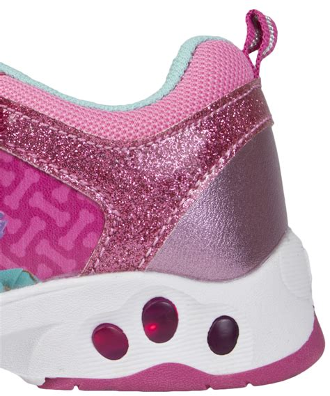 Mokka Sneakers Led 688 paw patrol light up trainers easy touch fastening glitter shoes ebay