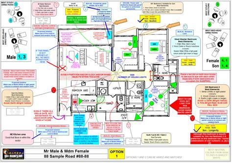 Sample Floor Plan For 2 Storey House floor plan aligned with bagua missing corner land