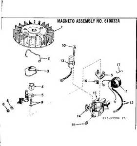 magneto assembly diagram parts list for model type64319b tecumseh parts all products parts