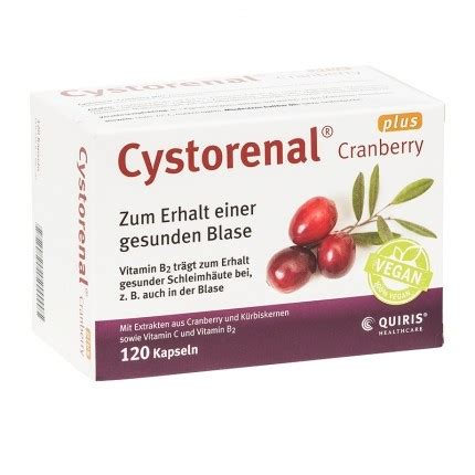 Cystorenal Cranberry Plus Kapseln 112 by Quiris Cystorenal Cranberry Plus Kapseln 120 St 252 Ck Nu3