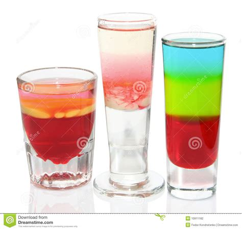 three colorful cocktails stock photo image of