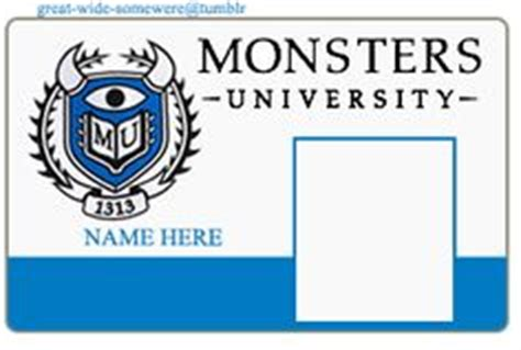 monsters student card template 1000 images about monsters inc on