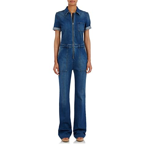 Jumpsuit Dian Tosca stella mccartney denim wide leg jumpsuit in blue lyst