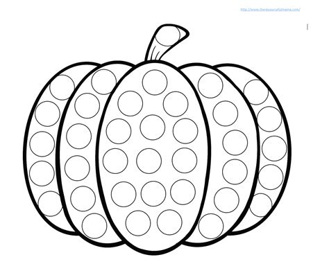 printable dot art worksheets pumpkin do a dot worksheet the resourceful mama