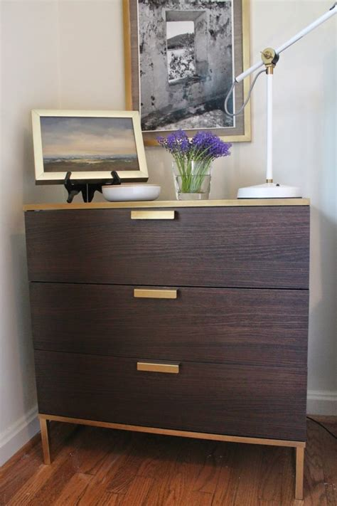 paint ikea dresser 10 times gold spray paint made ikea products even better