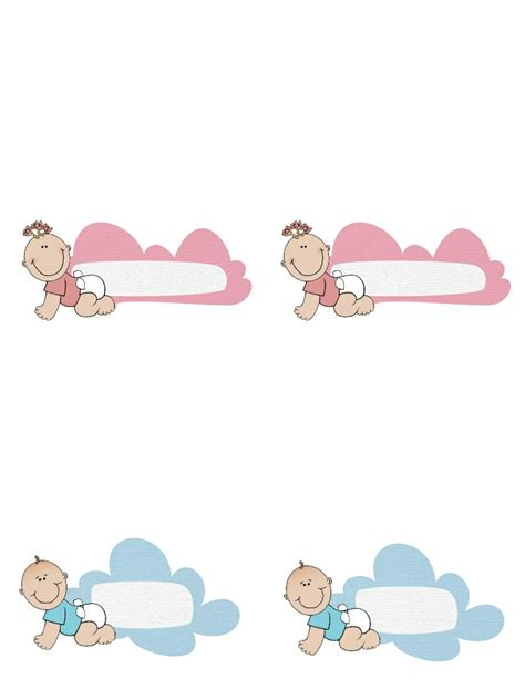 baby shower place cards template free baby shower labels to for boy