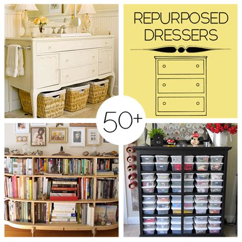repurposed diy projects 50 repurposed dresser projects to make diy craft projects