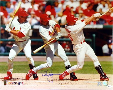 mark mcgwire swing mark mcgwire st louis cardinals 16x20 autographed triple