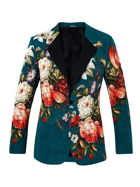 J 42565 Flower Jaket lyst dolce gabbana floral print single breasted jacket in green for