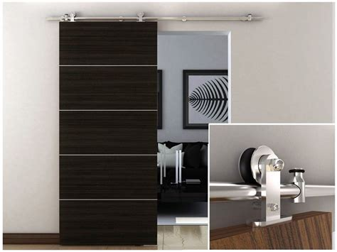 Barn Door Hardware For Cabinets 6 6 Ft Stainless Steel Interior Modern Sliding Barn Wood Door Hardware Track Set In Kitchen