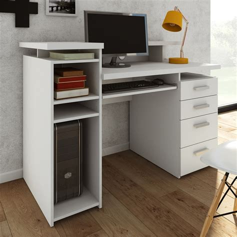 computer desk white shop tvilum wheaton contemporary white computer desk at