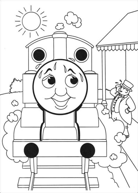 Thomas The Tank Engine Coloring Pages 7 Coloring Kids The Tank Engine Colouring Page