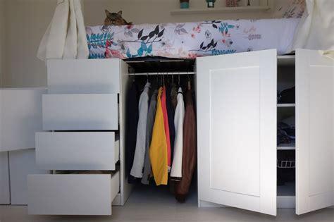 lit mezzanine dressing avec diy un lit dressing gain de