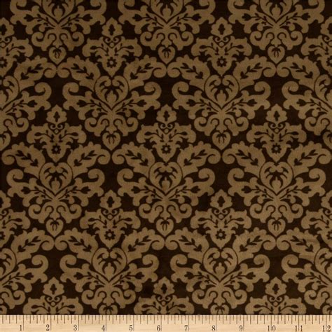 Wallpaper Sale Brown shannon minky cuddle classic damask brown cappuccino