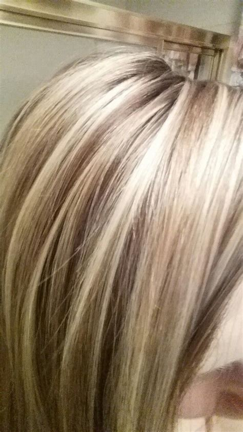 lowlight placement in bleached blond hair love my hair highlights and lowlights hair pinterest