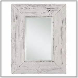 Distressed white wood mirror home design ideas
