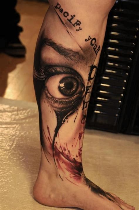 3d tattoo girl leg 32 beautiful 3d leg tattoos