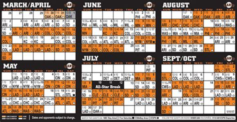 printable schedule for sf giants giants calendar 2017 calendar 2017