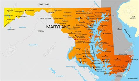 united states map of maryland united states map powerpoint templates united free