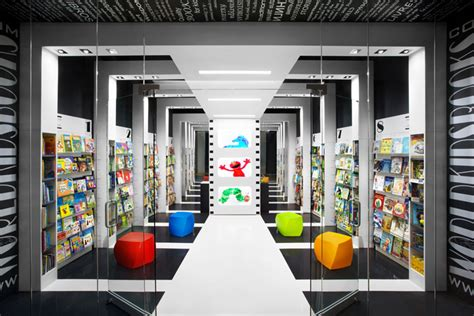 awesome Rhythm In Interior Design #3: World-Kids-Books-store-Red-Box-ID-Vancouver-Canada-07.jpg