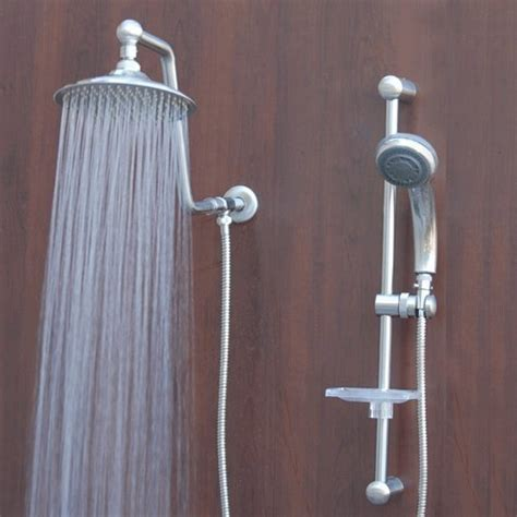 Discount Shower Heads by Cheap Atlantis 7 Shower System Brushed Nickel