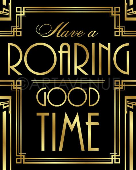 themes and quotes in the great gatsby gatsby decor sign roaring good time quote by
