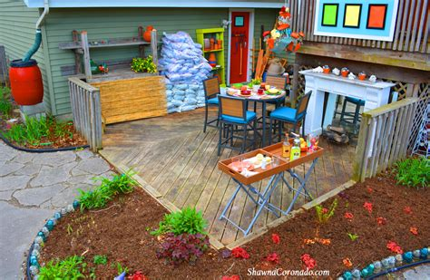 backyard makeover garden potting room before and after