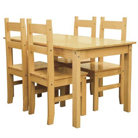 mesa y silla comedor mesa comedor de madera maciza fija 140cm con sillas